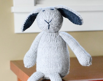 Knit Bunny, Easter Bunny, Handmade Bunny, Handmade Knit Bunny, Stuffed Animal, Plush Toy, Knit Stuffed Anima, Bunny Rabbitl