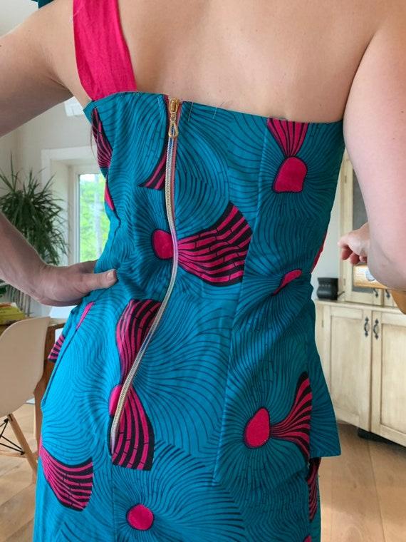 Handmade 1980s dress with rainbow zipper!