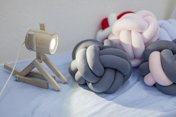 Cadeaux de bureau bois lampe en bois fait à la main lampe éclair