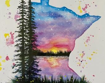"""Minnesota PRINT - """"Gunflint Trail"""""""