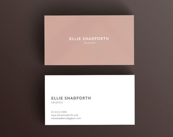 Minimal Simple Modern and Corporate Business Card Photoshop Template | Professional Calling Card | Chic and Stylish Photoshop Template |