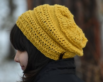 Yellow Slouchy Hat