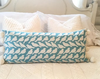 One 14/30 in lumbarbar/ pillow slip/ pompoms