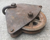 Pulley Cast Iron Steel Bell Shaped 12 AH D Co St. Paul USA Barn Rustic