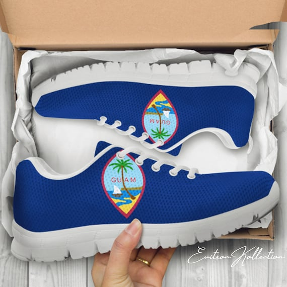 3564436910 Guam Custom White Shoes Sneakers Trainers