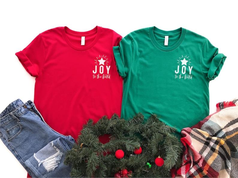 Joy to the World  Christmas Tshirt  Christian Tshirt  image 0