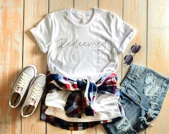 Redeemed | Christian Tshirt | Jesus Tshirt | Christian Gift | Christian Apparel