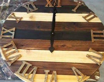 Rustic Cedar clock