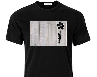 Balloon Girl Banksy - Graphic Cotton T Shirt Short or Long Sleeve