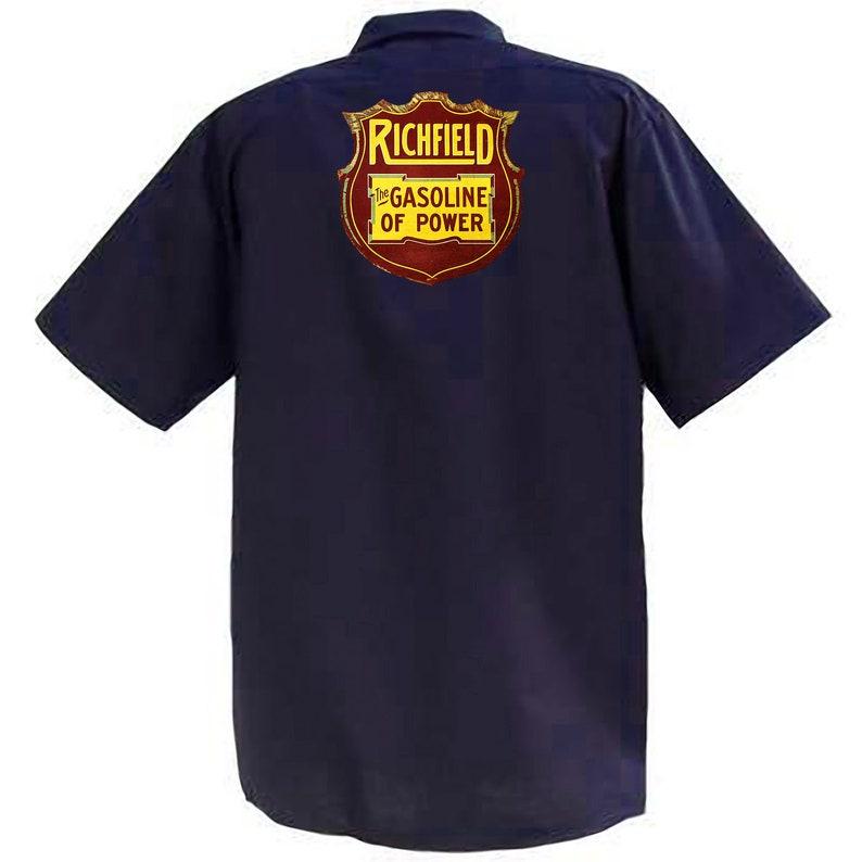 Graphic Cotton T Shirt Short /& Long Sleeve Richfield Gasoline