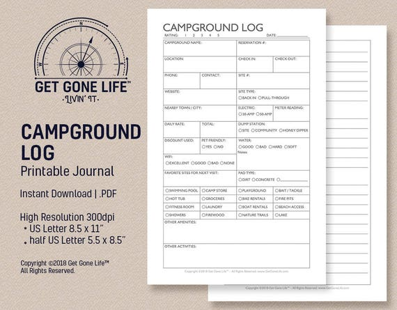 picture about Printable Geocache Log referred to as Printable Campground Magazine, Tenting Log, Tenting Magazine, Push Magazine  Just take Absent Lifetime RV, Motorhome