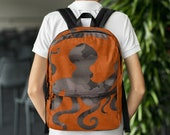 Personalized Backpack Rucksack Book Bag for Back to School Library Octopus Camouflage Design