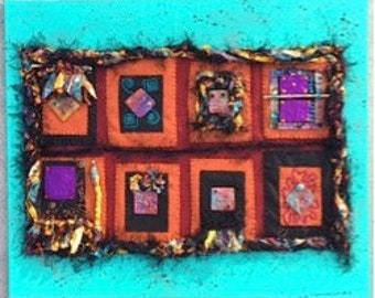 "Mixed Media on Canvas - ""Sandia Sunset,"" Contemporary Art"