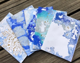 Hand-Painted Cards Set 3 Arctic Collection
