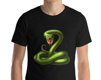 29abde3343b4cb A Beautiful Green Snake Poison Short-Sleeve Unisex T-Shirt