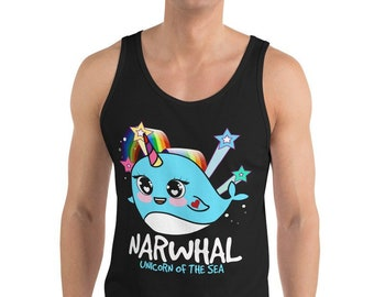 a5618ef452bad Narwhal Unicorn Of The Sea Gift Unisex Tank Top