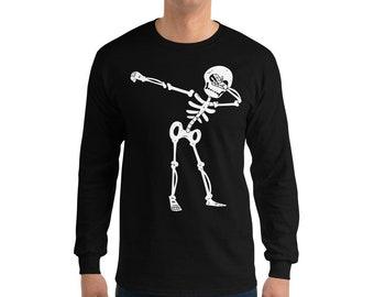 Halloween costume idea! Skeleton T-shirt donna manica lunga Scheletro