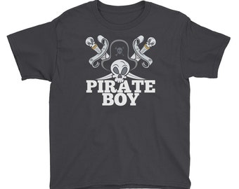 Pirate Boy Youth Short Sleeve T-Shirt