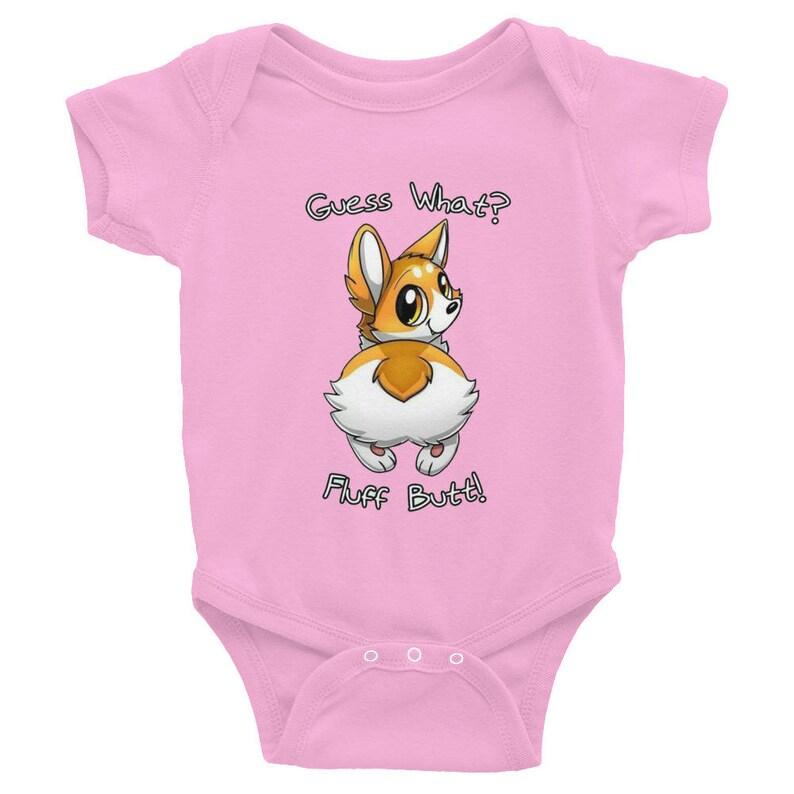 Infant Bodysuit Guess what Corgi Fluff butt