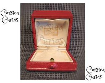 Wedding  Vintage PARIS MONTE CARLO 1980's Red & Velvet Fine Quality Ring Box.