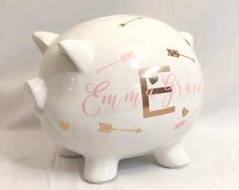 Personalized Piggy Bank, Kids Piggy Bank, Baby Shower Gift, Baby Shower Gifts, Piggy Bank, Personalized, Baby Shower, Baby Boy, Baby Girl