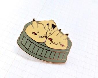 Pika Bao Enamel Pin