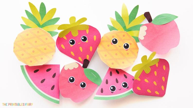 Fruit Printable Bookmark Templates image 0