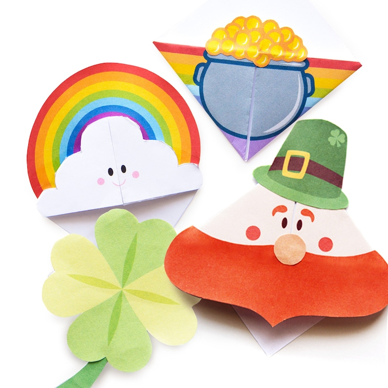 St Patrick's Day Printable Bookmark Templates image 0