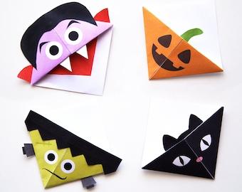 Halloween Printable Bookmark Templates