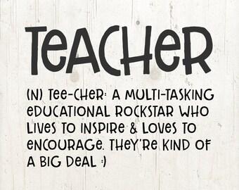 Teacher quote   Etsy