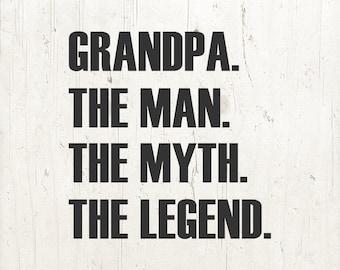 Grandpa shirt svg etsy grandpa the man the myth the legend grandpa t shirt fathers day gifts for grandpa gifts for dad grandpa shirt svg publicscrutiny Gallery