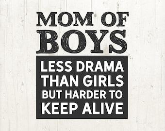 Mom Life SVG / Mom of Boys SVG / Mom SVG / Momlife svg / Mothers Day svg / svg Files for Cricut / Silhouette Files