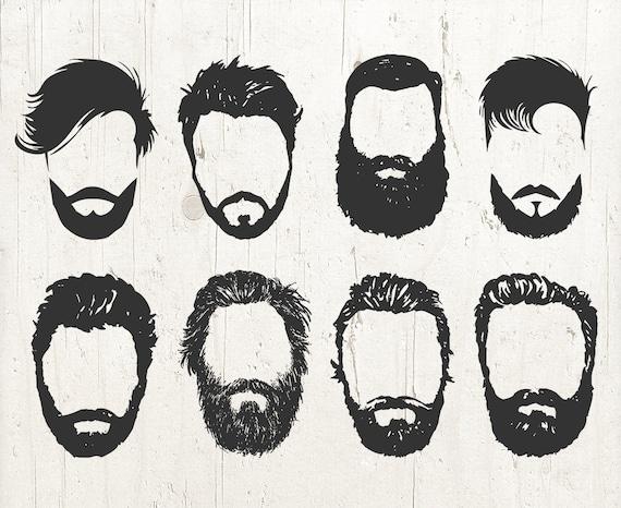BEARD SVG beards svg beard stencil beard decal beard cut | Etsy