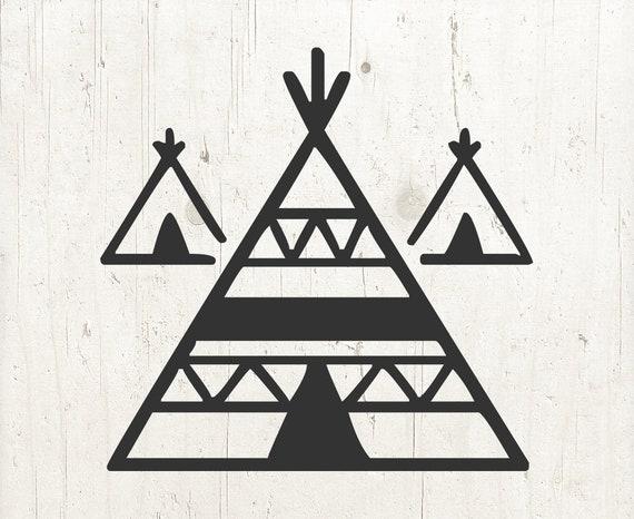 Teepee Svg Tent Svg Tribal Svg Indian Teepee Boho Svg Etsy