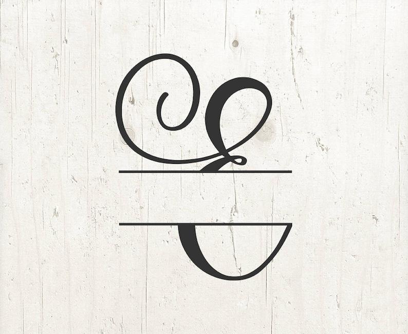 Letter E Svg Split Monogram Alphabet Letters Split Letter Svg Etsy