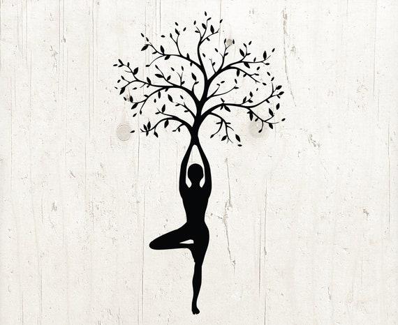 Yoga Tree Svg Meditation Svg Mindfulness Svg Yoga Svg Yoga Etsy