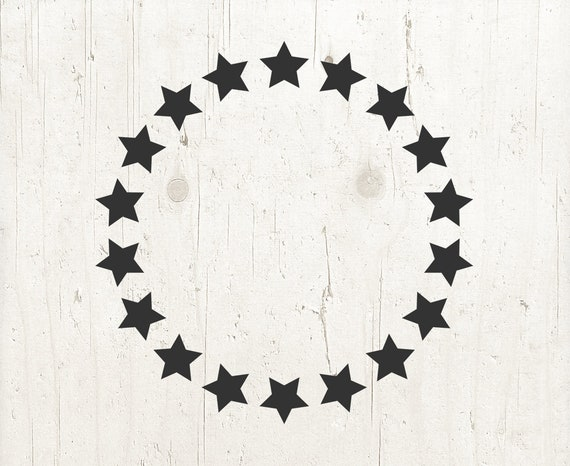 Star Svg Star Clipart Star Svg Monogram Frame Svg Circle Etsy