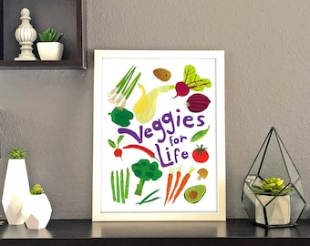 Veggies for Life Collage Print