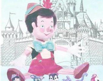 "Vintage Walt Disney's Pinocchio Doll Sewing Pattern 20"" Tall"