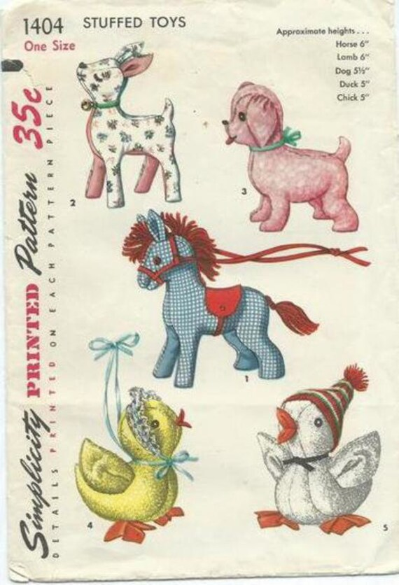 Lots of Vintage toy sewing Patterns