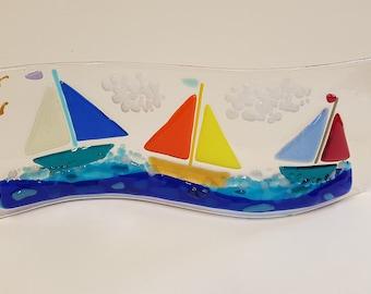 Fused Glass Medium Waves