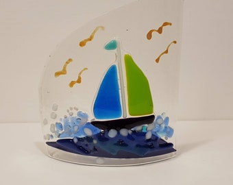 Small Fused Glass Cut Curves