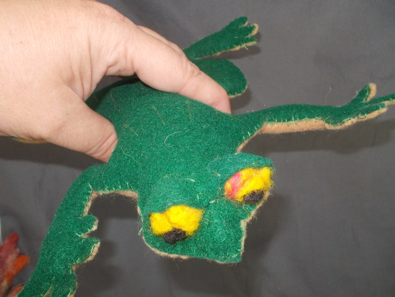 frog stuffie handmade collectable plush frog Felt Frog Toy