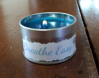 Breathe Easy Essential Oil Beeswax Candle