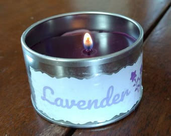 Lavender Essential Oil Beeswax Candle