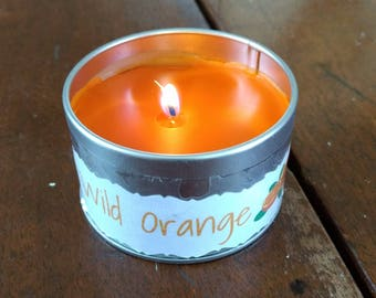 Wild Orange Essential Oil Beeswax Candle