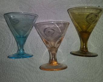 Antique Cordial Glasses