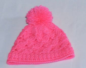 Winter Crochet Hat for Baby Girl