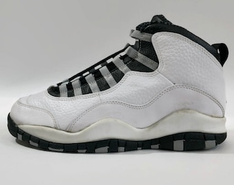 buy popular 5f16a c931f Air Jordan X Steel Authentic Nike Basketball Shoes Size 8 Circa 1994-1995