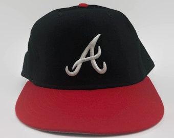 Atlanta Braves Authentic MLB New Era Fitted Hat Size 7 3 8 Circa 1980s 1eb92e02ff4a